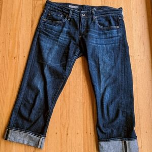 AG Adriano Goldschmied Tomboy Crop Relaxed Jeans S